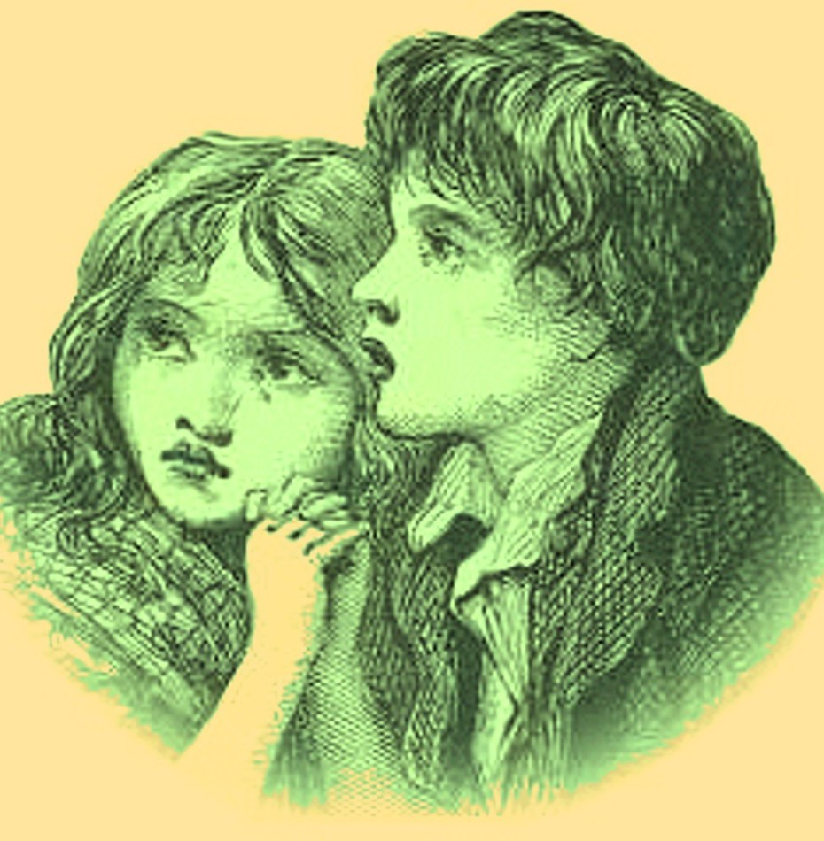 artists depiction of the green children of woolpit - Pics Children